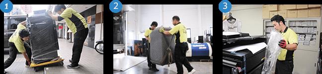精密機械・重量物運送の流れ